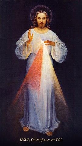 Jésus_Miséricorde_Sainte_Faustine_Peintre_Eugeniusz_Kazimirowski_1934_Réduit